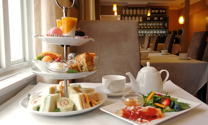 T-Buds Tea Lounge and Creperie - Yonge-Lawrence Village: C$39 for Summer Afternoon Tea for Two at T-Buds Tea Lounge and Creperie (C$64 Value)