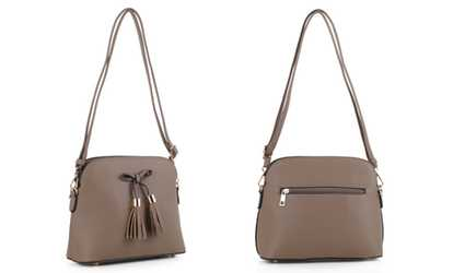 a0ca23d71d0a Shop Groupon MKII Multi-Compartment Lucie Crossbody Bag with Tassel Trim
