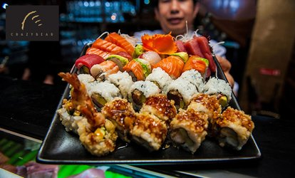 image for £20 for Sushi, Sashimi and Premium Champagne worth £40 at The Crazy Bear (50% off)