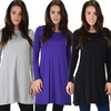 Lyss Loo Women's Whenever Wherever Long Sleeve Tunic Top