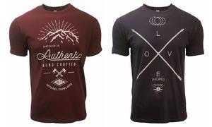 Pack de 2 t-shirts imprimés homme