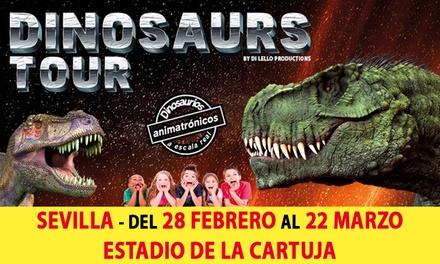 Entrada para 2 o 5 adultos o niños a Dinosaurs Tour del 28/2/20 al 22/3/20 (hasta 35% de descuento)