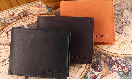 1 of 2 leren portemonnees voor heren in kleur naar keuze vanaf € 12,98 tot korting