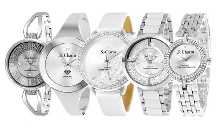 Vente Flash Montres So Charm Paris, ornée de cristaux Swarovski ou dun Diamant modèle et coloris au choix