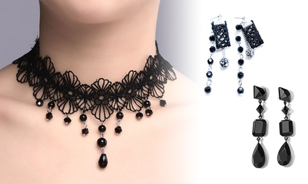 $9.95 for a Choker Necklace or $12 for a Choker Necklace and Earrings Set