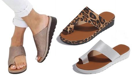 Sandalias planas abiertas