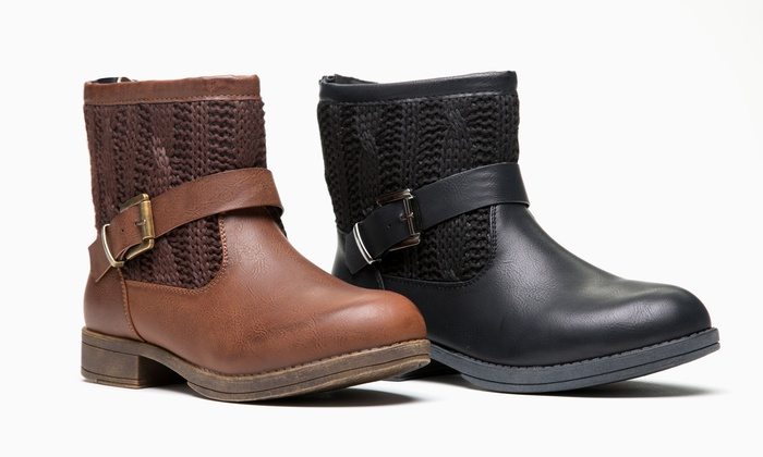 Olive Street Women's Cable Knit Bootie | Groupon Exclusive (Sizes 7 thru 9)