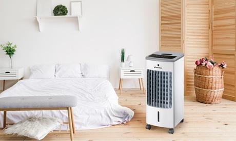 Enfriador de aire con control remoto y panel digital