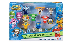 Super Wings World Airport Crew Collector's Pack (15-Piece)
