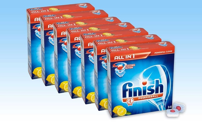 238 Finish Powerball Lemon Dishwasher Tablets from €39.99 With Free Delivery (Up to 56% Off)