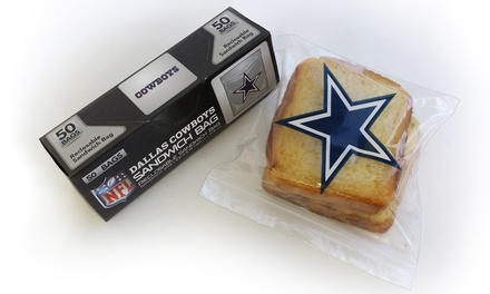 NFL Sandwich Bags 4-Pack (200 Count)