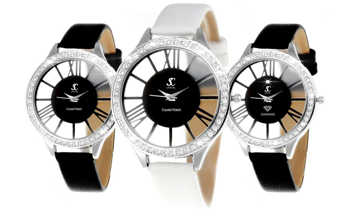 SC Crystal Paris MF301 Women's Watch with Crystals from Swarovski® With Free Delivery (£46.99)