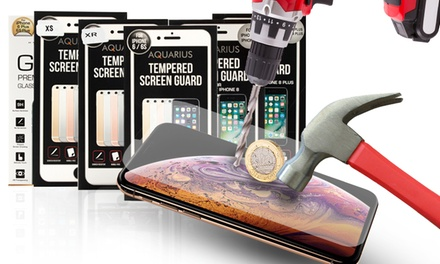One or Two Tempered Glass Screen Guards for iPhone