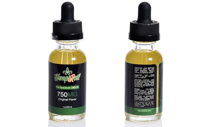 Up To 48% Off on CBD Tincture Oil By HempRoil   Groupon Goods