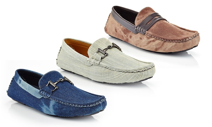 Casual Denim Horse Shoe Penny Loafers