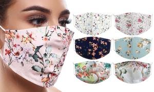 Masque motif floral