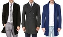Braveman Men's Single or Double Breasted Wool Blend Coat (S-3XL)