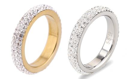 Ring veredelt mit Kristallen von Swarovski® in Silber oder Gold