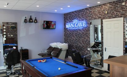 image for Men's Hair Pamper Package at The Man Cave (Up to 57% Off)