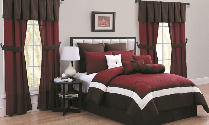 comforter sets with included matching window decor 20 pieces comforter sets with included - Window Decor