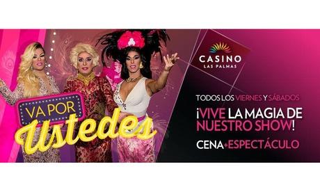 Cena para dos con espectáculo, cocktail y bono de la suerte por 39,90 € en Casino Las Palmas