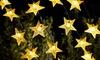 1 ou 2 guirlandes solaire LED en forme d'étoiles