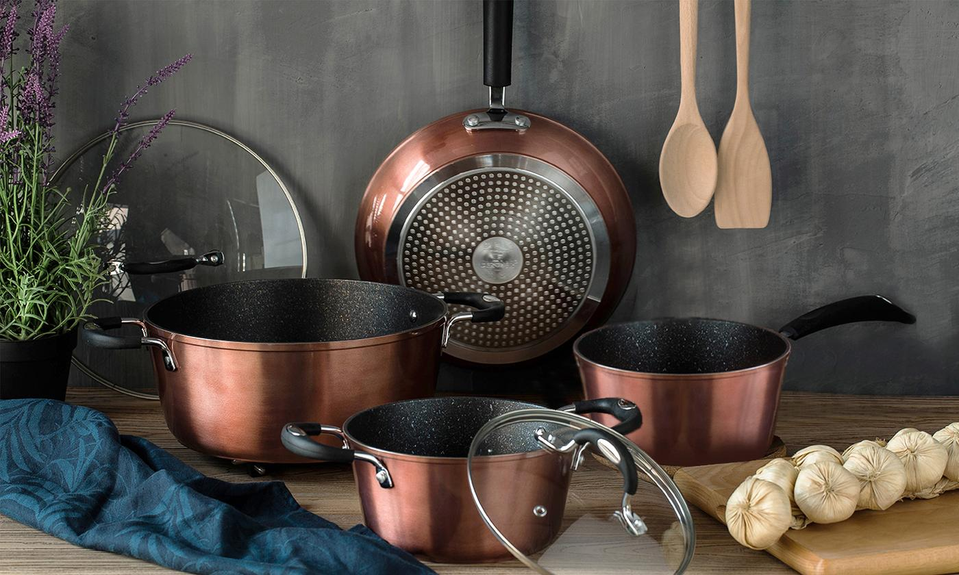 Bergner Pandora Six-Piece Cookware Set With Free Delivery