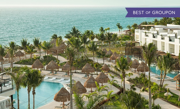 TripAlertz wants you to check out ✈ 4, 6, or 7 Night Finest Playa Mujeres Trip with Airfare & Private Pool. Price per Person Based on Double Occupancy.  ✈ All-Inclusive Finest Playa Mujeres Trip w/ Air from Vacation Express - All-Inclusive Cancún Vacation