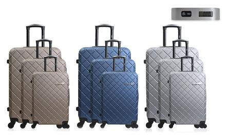 8c3a25dad86992 Set de 3 valises ABS Verone avec pèse bagage offert
