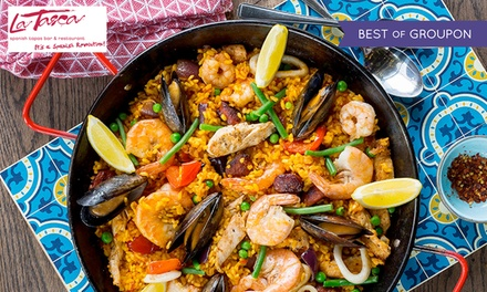 Paella or Main Dish with Choice of Drink for Two or Four at La Tasca, Nine Locations