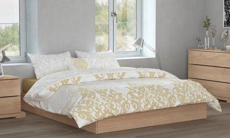 Ropa de cama 19V69 Gold con funda nórdica, almohada y/o manta
