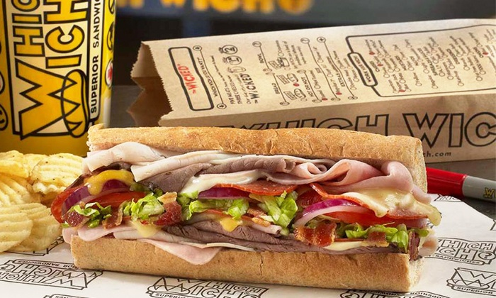 Which Wich - East Chandler Rd Retail: $15 for $20 Worth of Sandwiches, Salads, Shakes and more at Which Wich. Order Online.