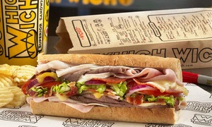 Which Wich-201 University Oaks: $15 for $20 Worth of Sandwiches, Salads, Shakes and more at Which Wich. Online Orders Only.
