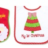 Infant Holiday Bib