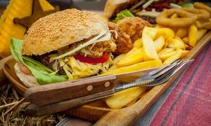 Restauracja Cowboy Inn: Amerykańskie burgery z frytkami, krążkami cebulowymi i więcej od 35,99 zł w Cowboy Inn (do -42%)