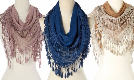 Women's Vintage Lace Scarf