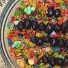 Menú de cereales con bebida
