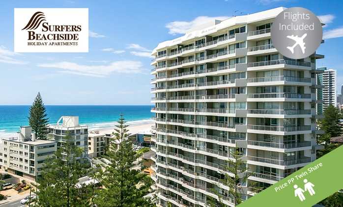 Surfers Paradise, Gold Coast: From $329PP for a Surfers Beachside Holiday Apartments Stay + Flights, Wine - Queensland