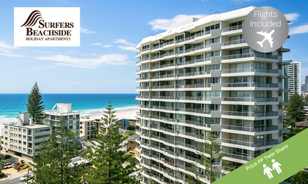 Surfers Paradise, Gold Coast: PP for a Surfers Beachside Holiday Apartments Stay + Flights, Wine Queensland