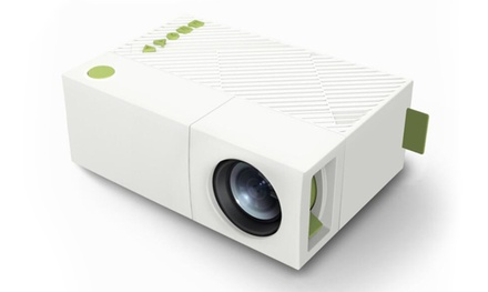 1x oder 2x tragbarer LED-Projektor mit integriertem Akku inkl. Versand (Sie sparen: 71%)