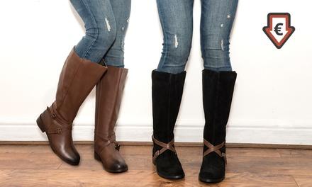 RedfootDamen-Lederstiefel in Schwarz oder Braun