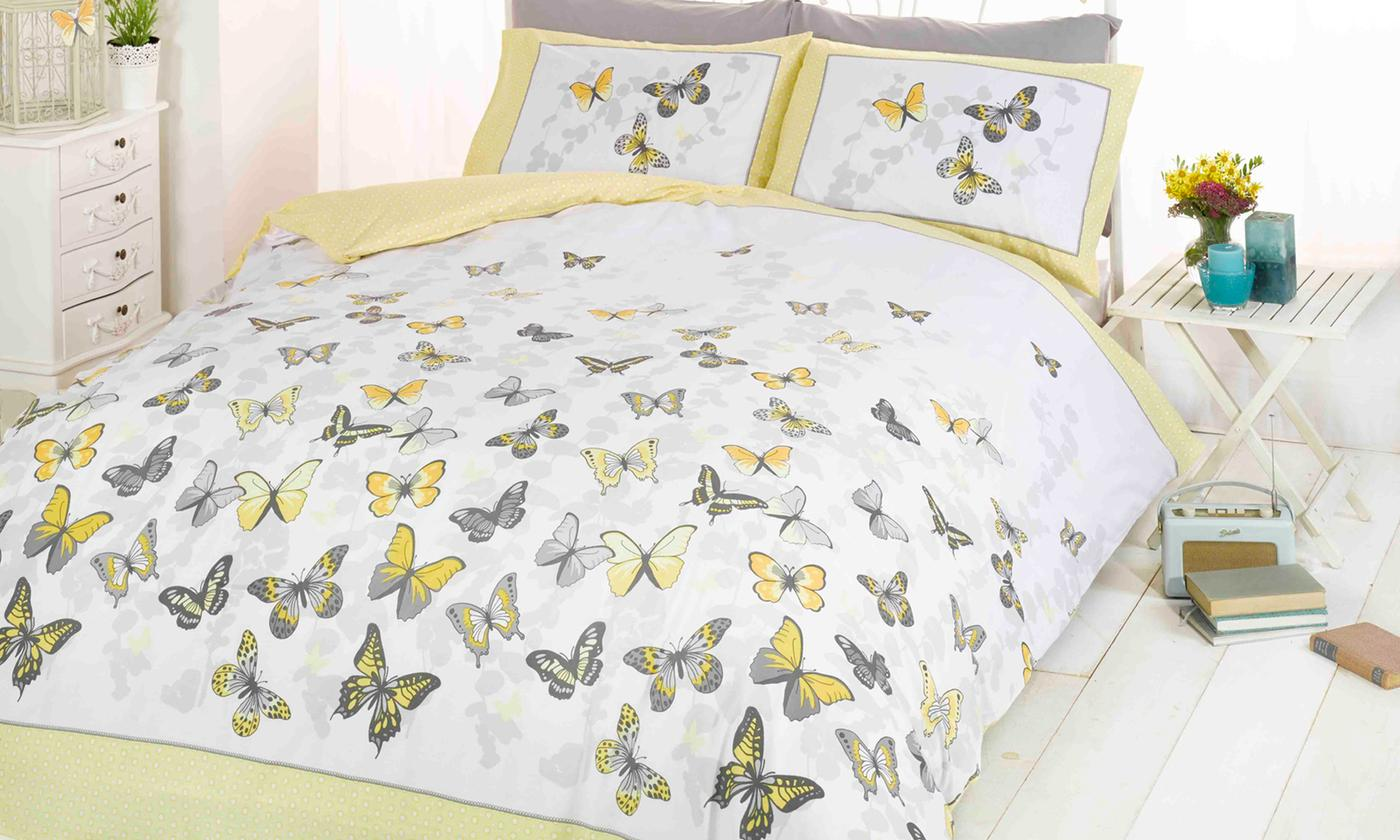 Rapport Home Reversible Flutter Duvet Set for £8.99