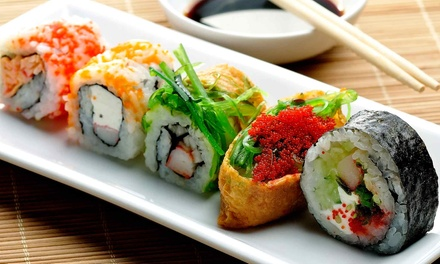 Sushi and Drinks for Dinner at Eat Well Sushi & Grill (Up to 50% Off). Two Options Available.