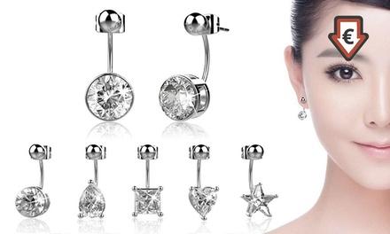 7 paires de boucles d'oreilles swarovski