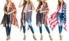 Women's American Flag Kimono Cardigan
