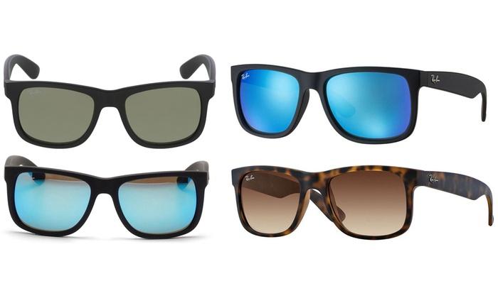 39b1ffad8d Ray Ban Justin Color Mix Blue Mirror Sunglasses RB4165-622 55-55 Black