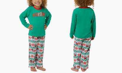 Shop Groupon Matching Family Pajamas in Holiday Fair Isle Print (2-Piece Set ) 78d4929b2