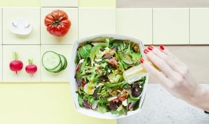Kraut und Rüben: Salat inkl. 4 Extras, Brötchen, Dressing und Premium-Extra für 1 od. 2 Pers. bei Kraut und Rüben (bis 41% sparen*)