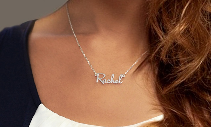 Monogram Online: Personalized Sterling-Silver or Gold-Plated Mini Name Necklace from Monogram Online (Up to 67% Off)