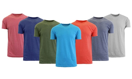Men's Crew-Neck Cotton-Blend Heather Tee (3-Pack) 8fdd014f-bd95-4e9d-97b9-d6e83335d481